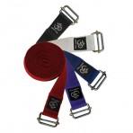 Yoga belte med metall spenne i bomull